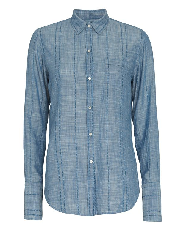 Nili Lotan EXCLUSIVE Button Down Chambray Shirt