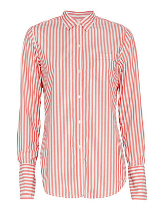 Nili Lotan EXCLUSIVE Striped Shirt: Pink