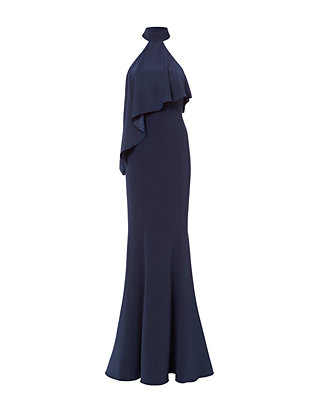 Jay Godfrey Franklin High Neck Ruffle Gown
