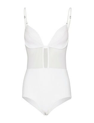 Zimmermann Ticking Bonded Tulip One Piece Swimsuit- Final Sale