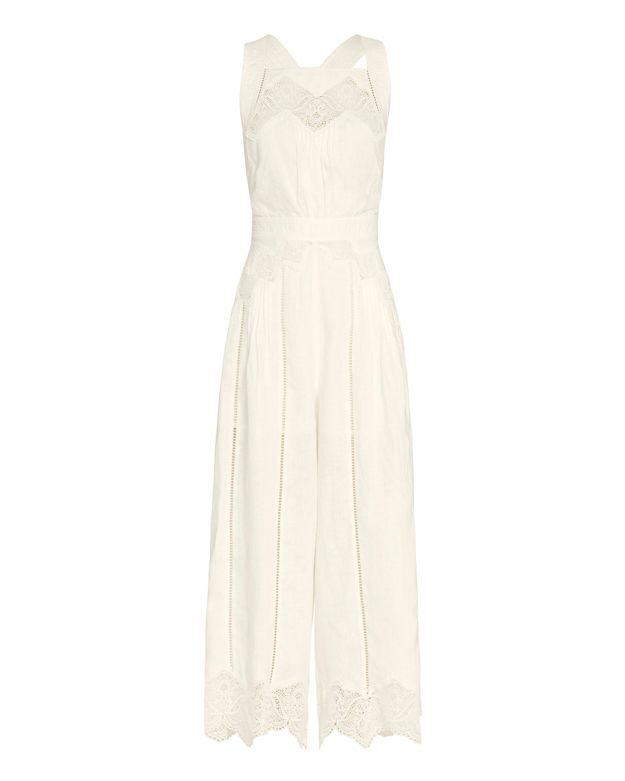 Zimmermann Virtue Linen Jumpsuit