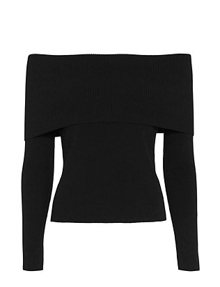 A.L.C. Monica Off The Shoulder Sweater: Black