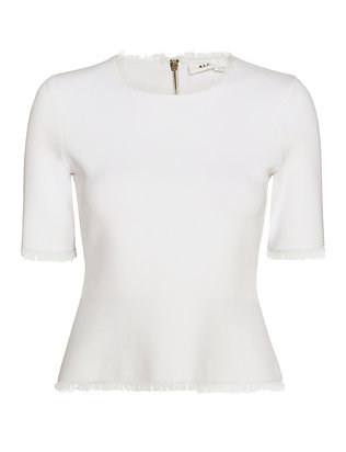 A.L.C. Rudin Frayed Edge Knit: White