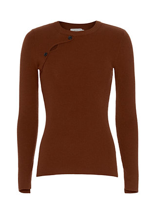 A.L.C. Caplan Long-Sleeve Button Sweater