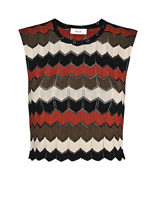 A.L.C. Leo Chevron Knit Crop