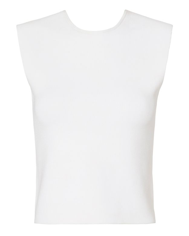 A.L.C. Travis Cross Back Knit Top: White