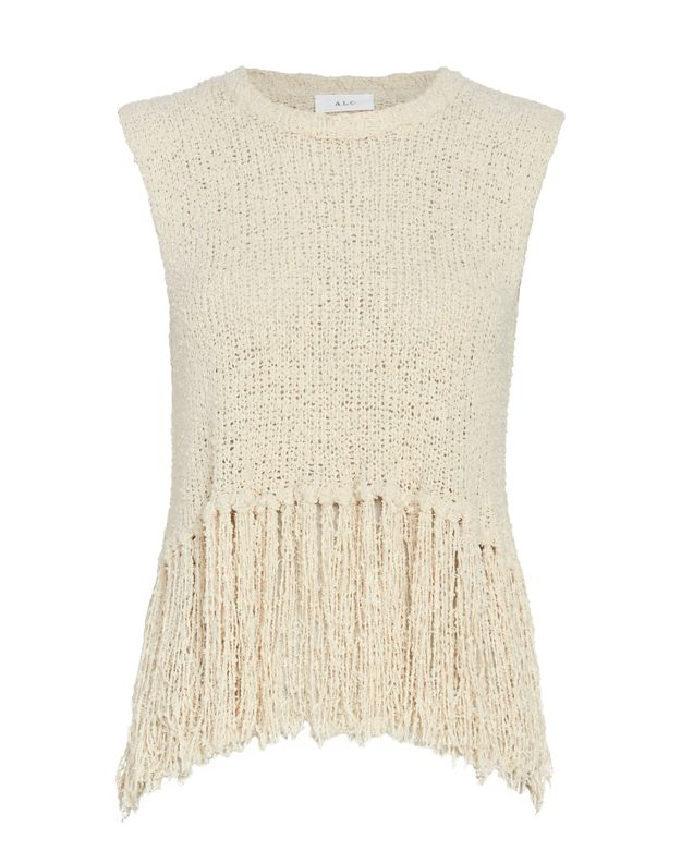 A.L.C. Dylan Sleeveless Fringe Top