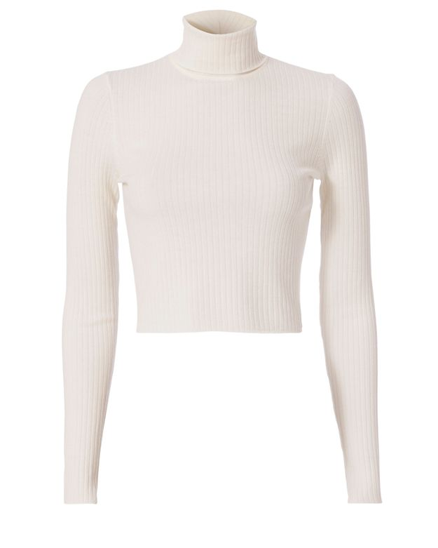 A.L.C. Elisa Turtleneck: White