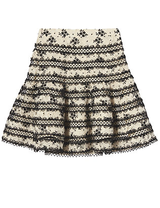 Zimmermann Lace Panel Flare Skirt