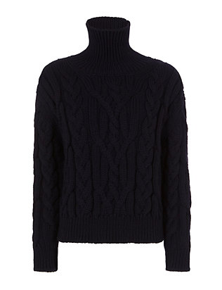 Nili Lotan Cable Knit Turtleneck