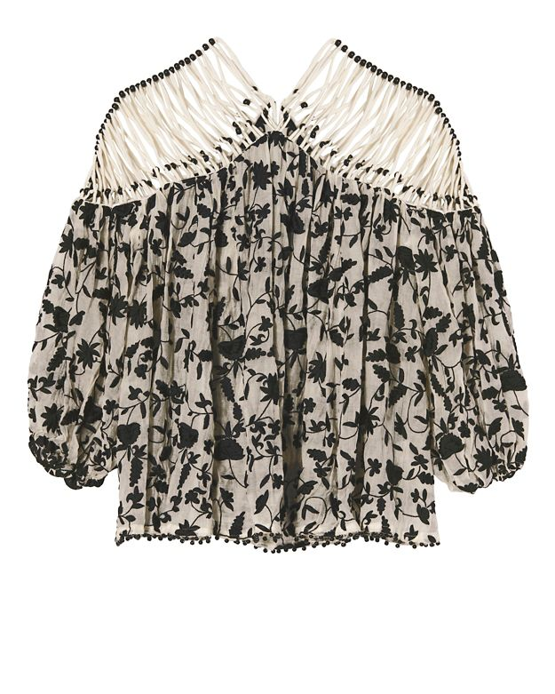 Zimmermann Strappy Embroidery Top
