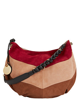 See By Chloe Tri-Color Suede Shoulder Bag