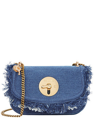 See By Chloé Circle Hardware Flap Denim Bag