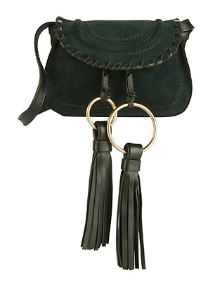 See By Chloé Fringe Tassel Suede Fanny Pack/Shoulder Bag