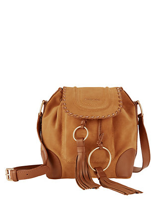 Tassel Bucket Suede Shoulder Bag