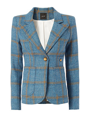 Smythe Patch Pocket Plaid Blazer