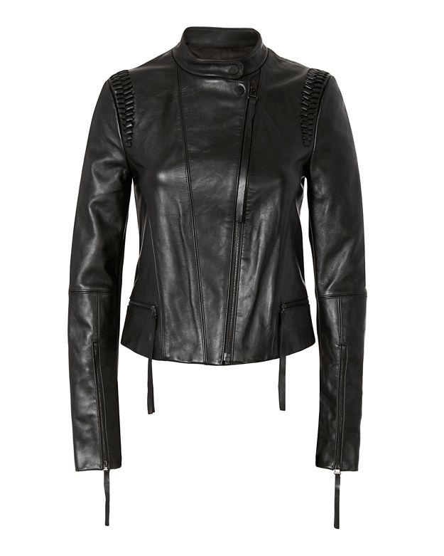 Dion Lee Braided Leather Moto Jacket