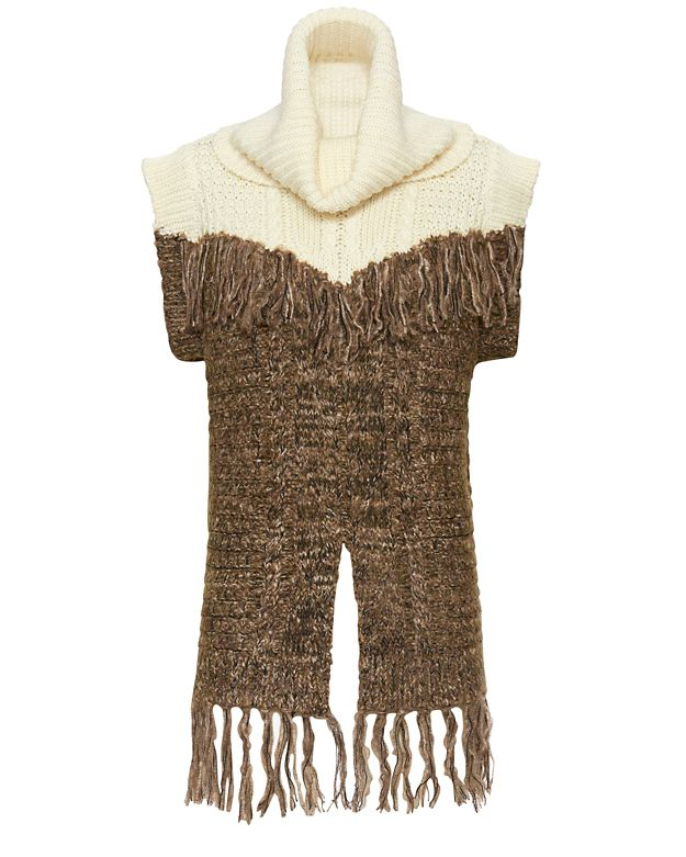 Thakoon Addition Fringe Scarf Turtleneck