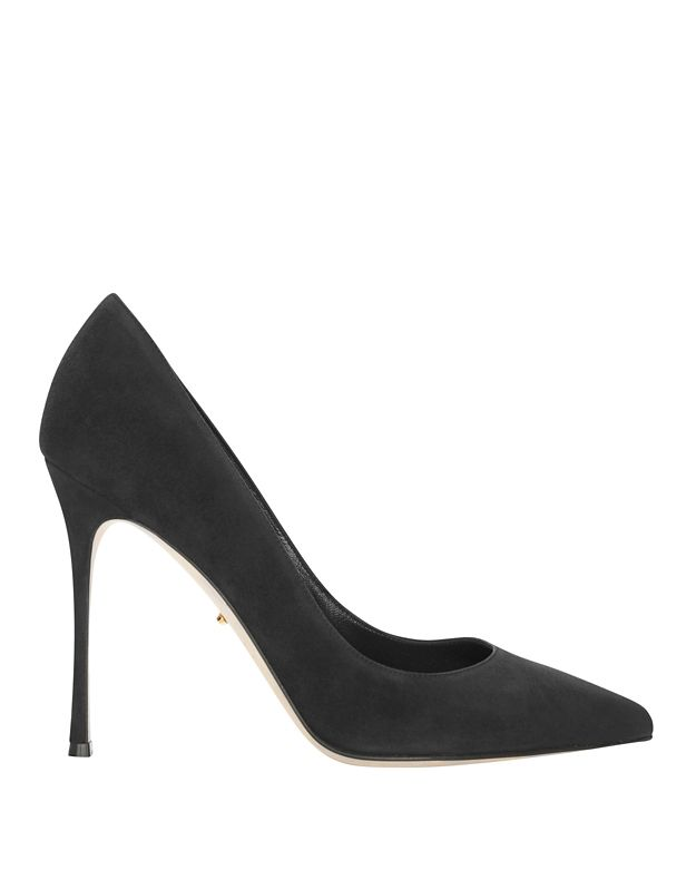 Sergio Rossi Godiva Black Suede Pointy Toe Pumps