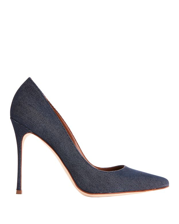 Sergio Rossi Godiva Dark Denim Pointy Toe Pumps