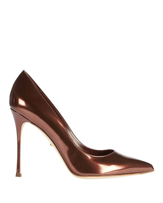 Sergio Rossi Godiva Speccio Leather Red Rubin Pump