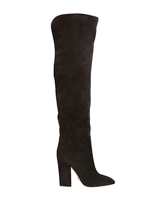 Sergio Rossi Suede Thigh High Boot: Grey