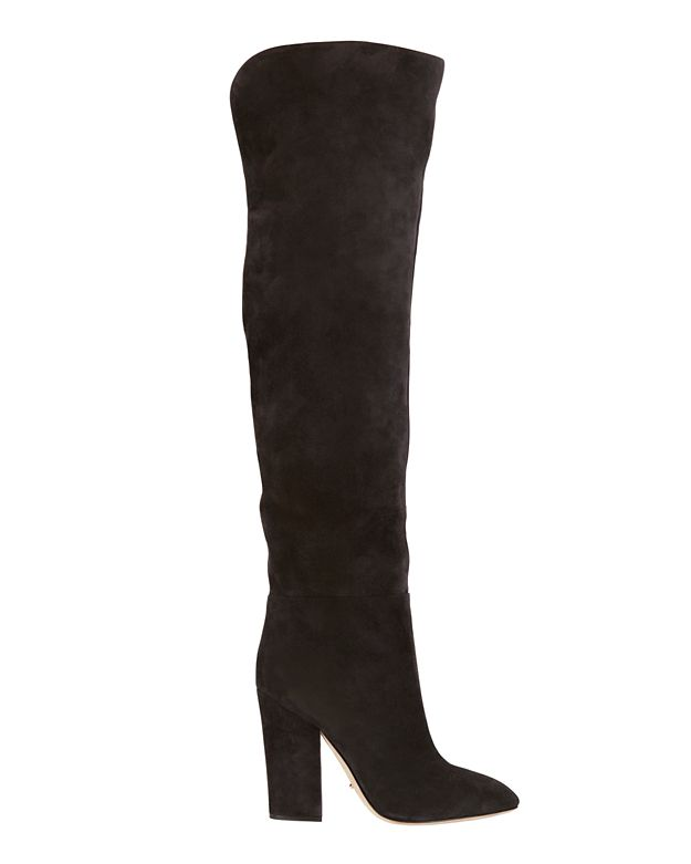 Sergio Rossi Suede Thigh High Boots