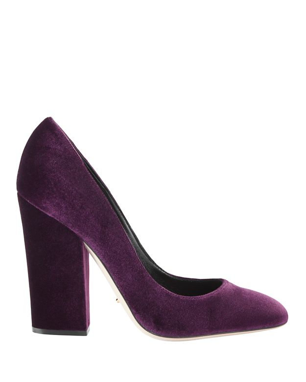 Sergio Rossi Virginia Velvet Pumps