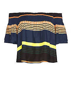 APiece Apart EXCLUSIVE Striped Ruffle Top