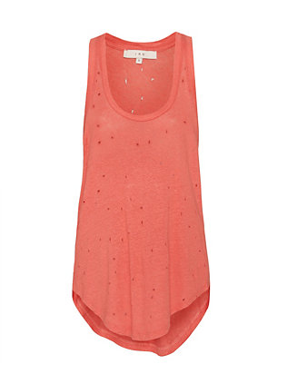 IRO EXCLUSIVE Doris Deconstructed Tank: Coral