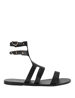 Ancient Greek Sandals Agapi Leather Gladiator Sandal: Black