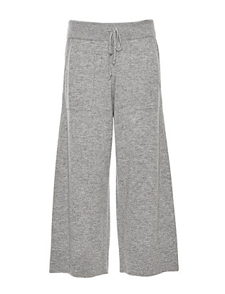 Exclusive for Intermix Knit Culotte Pant: Grey