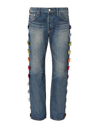 Velvet Bow Jeans
