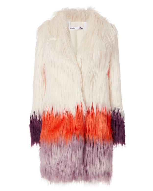 Alabama Muse Blondie Faux Fur Coat