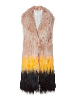 Joplin Colorblock Faux Fur Vest