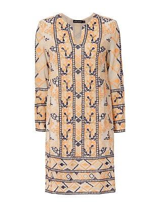 Antik Batik Aldo Embroidered Tunic Dress
