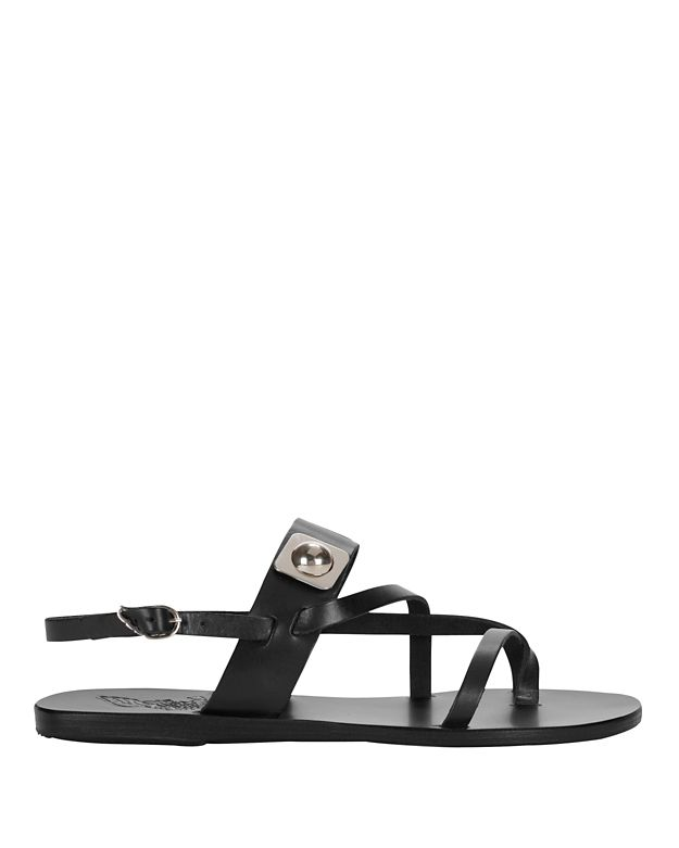 Ancient Greek Sandals x Peter Pilotto Alethea Rivot Sandal: Black