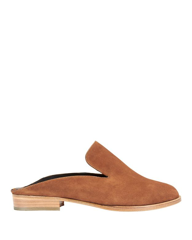 Robert Clergerie Alice Slide Suede Loafer: Brown
