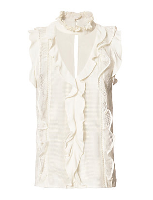 Alexis Alona Ruffle Front Lace Top