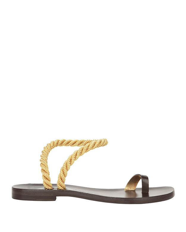 Álvaro González Angela Metallic Rope Flat Sandals