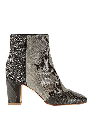 Polly Plume Anita Glitter Back/Snake Booties