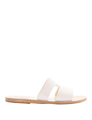 Ancient Greek Sandals Apteros Cutout Leather Slide Sandals