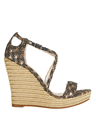 Jean-Michel Cazabat EXCLUSIVE Femina Woven Fabric Glitter Wedge