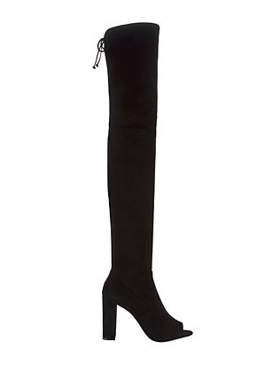 Ostia Suede Open Toe Over-The-Knee Boots