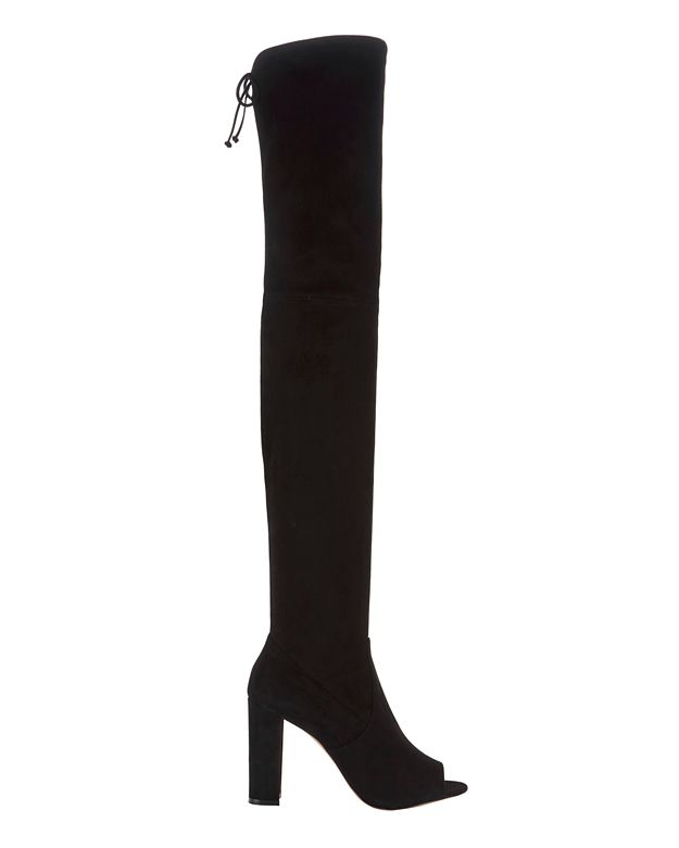 Jean-Michel Cazabat Ostia Suede Open Toe Over-The-Knee Boots