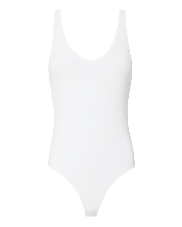 ATM Ribbed V-Neck Tank Bodysuit
