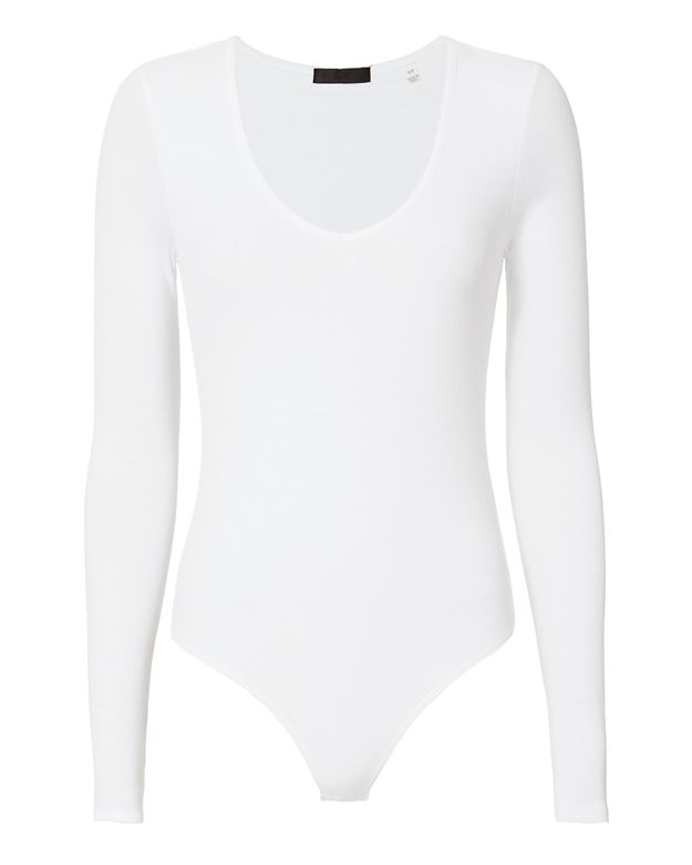 ATM Ribbed Long Sleeve Bodysuit
