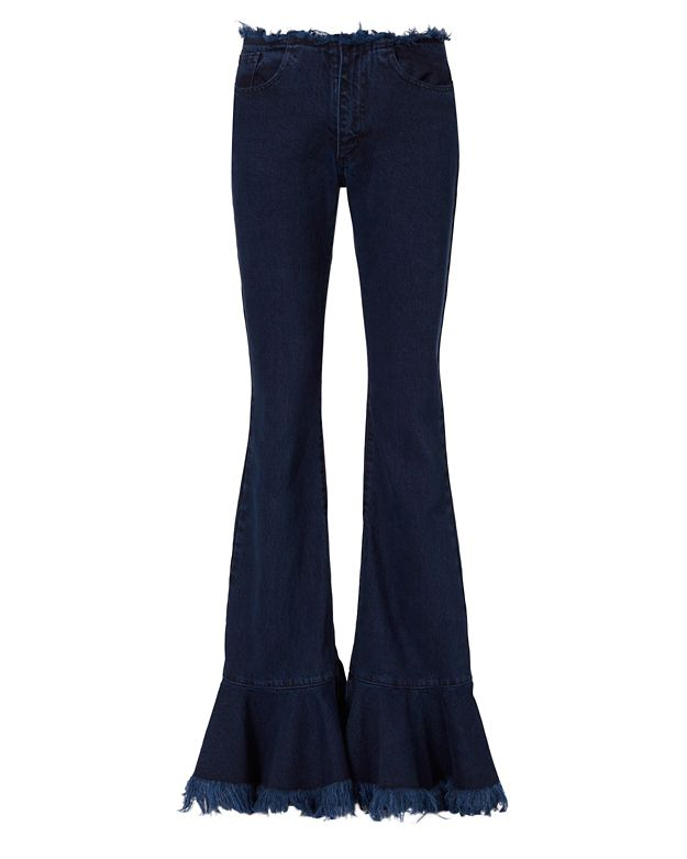 Marques' Almeida Frill Flared Jeans