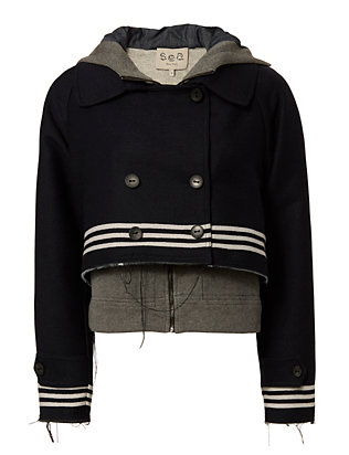 Sea Sweatshirt Combo Striped Jacket