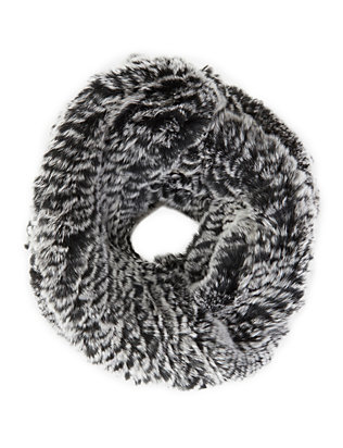 ANNABELLE New York Rex Rabbit Fur Infinity Scarf: Grey